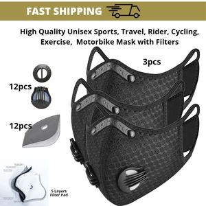 Cyclist Reusable Washable Face Mask Rubber Nose Bridge | 4-5 layers Filter Pad